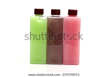 shower gel on the white background - stock photo