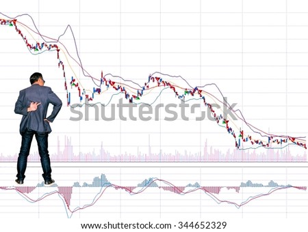 Shows the variation of stock prices,  - stock photo