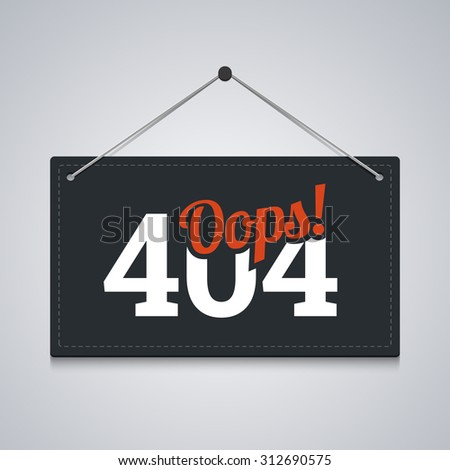 404 sign for website server error. - stock photo