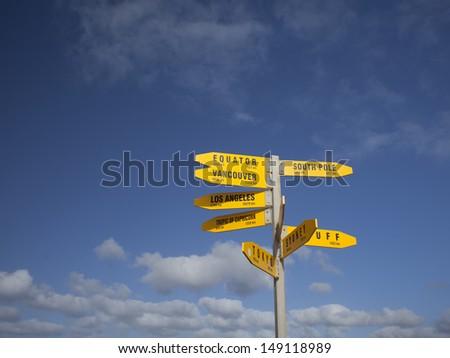 Signpost - stock photo