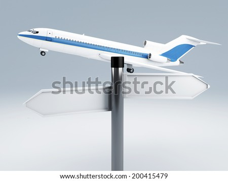 signpost travel. vacation concept 3d - stock photo