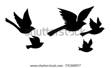 Flying Bird Drawing Stock Images, Royalty-Free Images ...