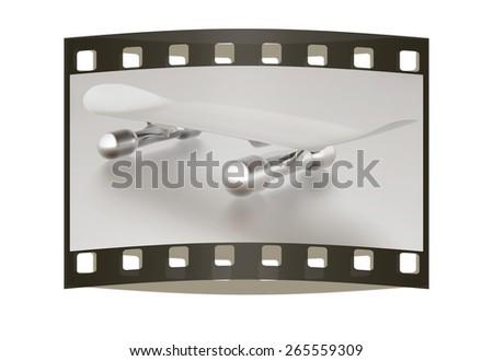 Skateboard. The film strip - stock photo