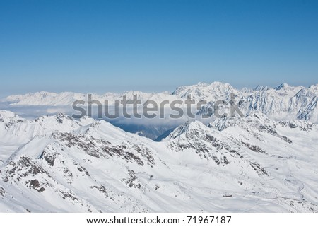 ski resort of Solden. Austria - stock photo
