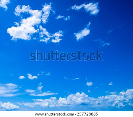 sky background with tiny clouds - stock photo