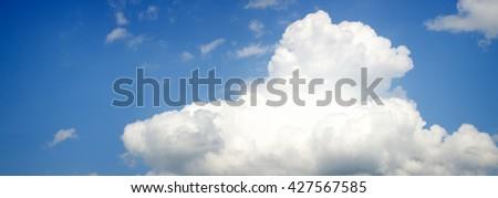 в�?н sky panorama. White clouds on blue. - stock photo