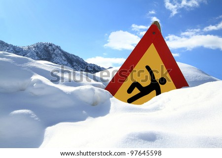"""""""Slippery Surface"""" road sign - stock photo"""
