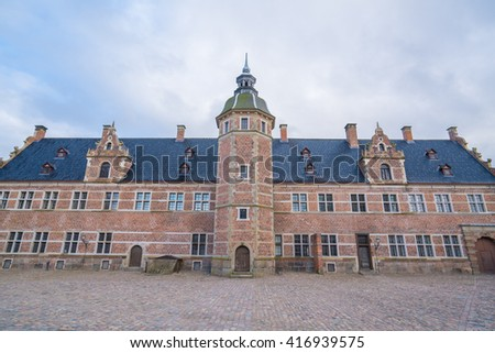 Slot in copenhagen denmark it very big  and very beautiful old castle - stock photo