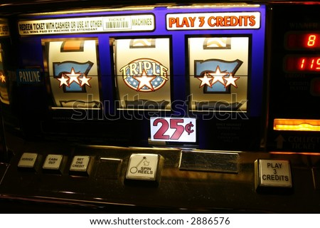 slot machine winnings - stock photo