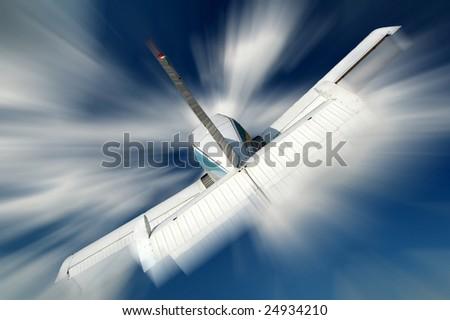 Small aeroplane - stock photo