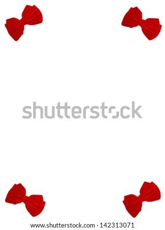 4 small bow ties card - stock photo