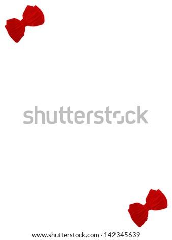 2 small bow ties card - stock photo