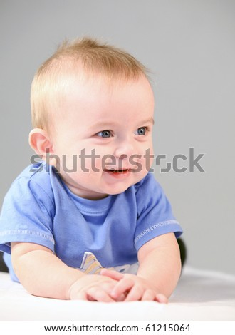 smiling baby - stock photo
