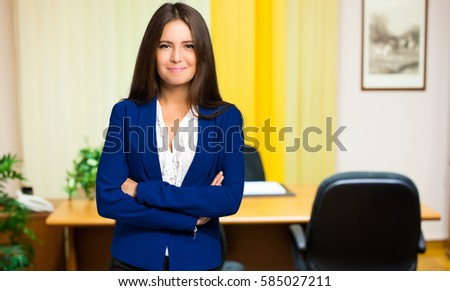 Smiling female manager portrait