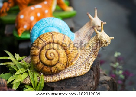 Snail  statue - stock photo