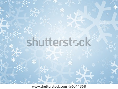 Snowflakes with space for text or image - stock photo