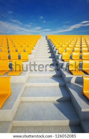 Soccer Arena Stairs - stock photo