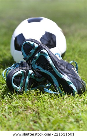 soccer equipment - stock photo