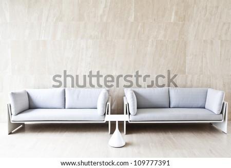 2 sofas - stock photo