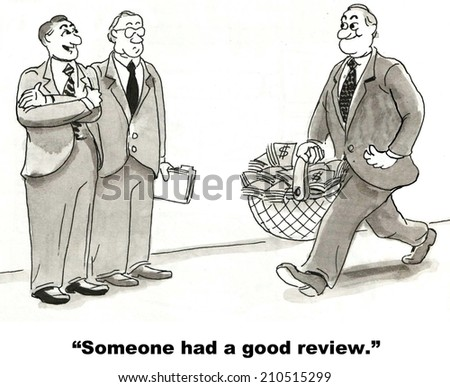 """""""Someone had a good review."""" - stock photo"""