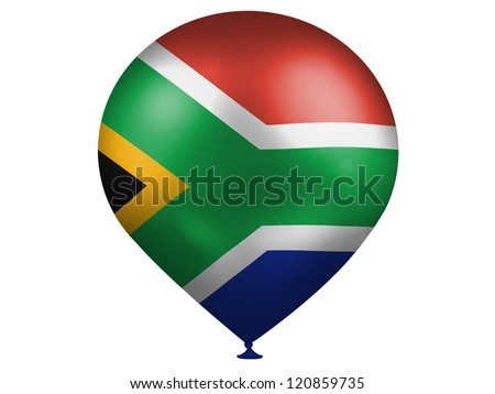 South African flag on a balloon