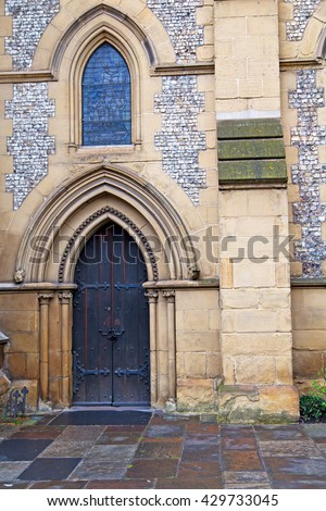 southwark cathedral in london england old construction  and religion - stock photo