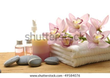 Spa essentials - stock photo