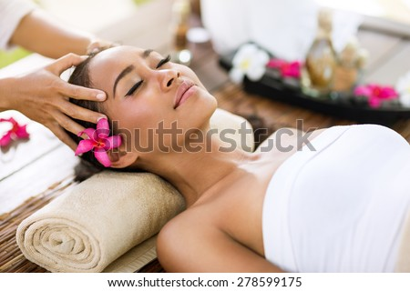 spa treatment  massage of head like stress removing