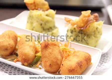 Spanish tapas croquettes  - stock photo