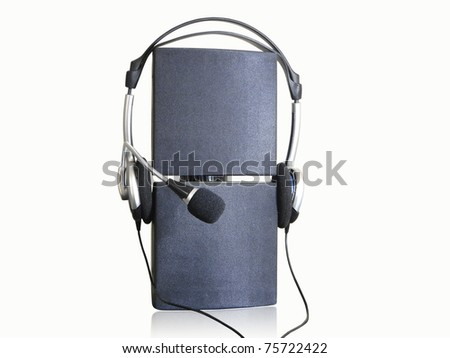 speaker and microphone - stock photo