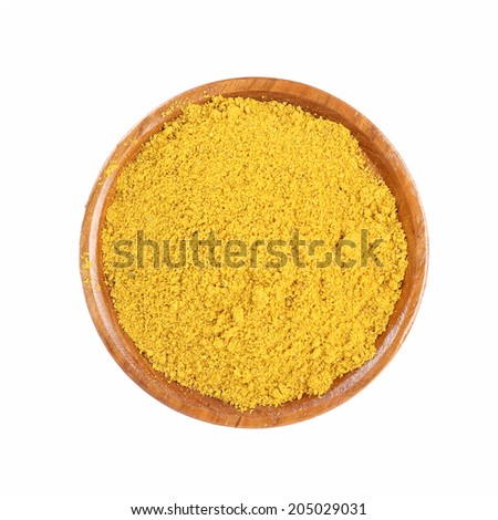 spices on white background - stock photo