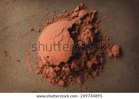 1 spoon of cocoa powder  - stock photo