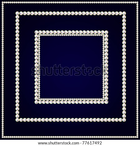 3 square frames with brilliants