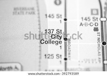 137 St City College. Broadway/7 Avenue Line. NYC. USA