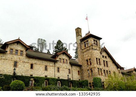 ST. HELENA, CA - MARCH 27: The Culinary Institute of America campus  on March 27, 2013 in Napa Valley, California. It is a not-for-profit academic institution of higher learning in cooking. - stock photo