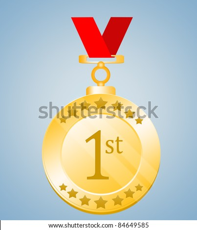 1st Position Medal - stock photo