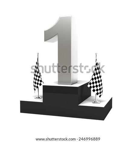 1st prize on 3d podium - stock photo