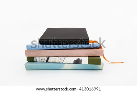 4 stacked books - stock photo