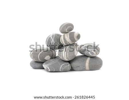 Stacked Nice striped stones - stock photo