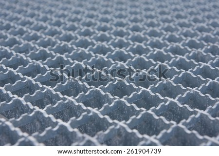 stainless steel frame grid lattice - stock photo