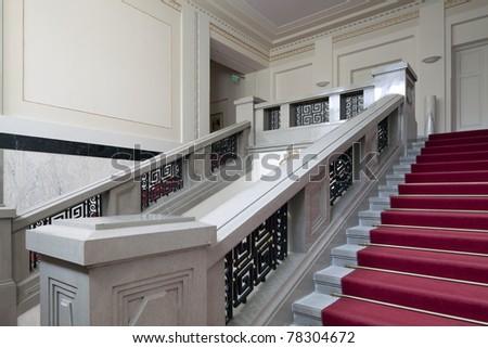 Stairway inside luxury palace - stock photo