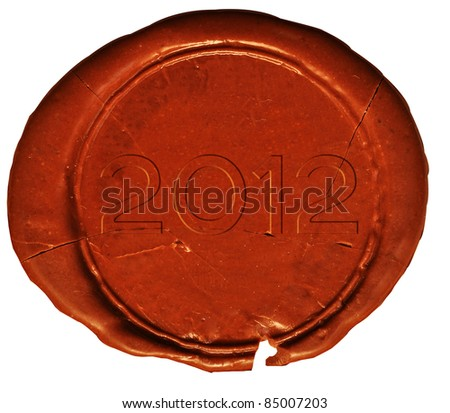 2012 stamp or seal, isolated on white background. - stock photo