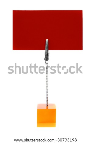stand with blank business card - stock photo