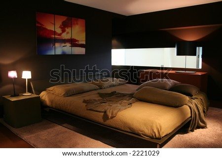 5 star hotel bedroom vacation - decorating ideas to make your bedroom delightful - stock photo