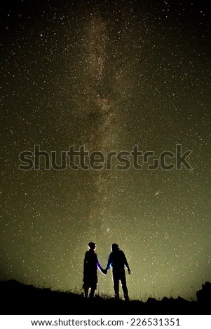 star in night time - stock photo