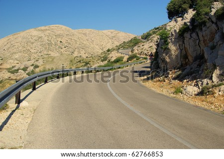 Stara Baska coast road