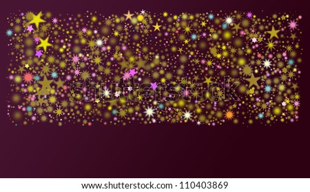 2013 stars in different colors and shapes