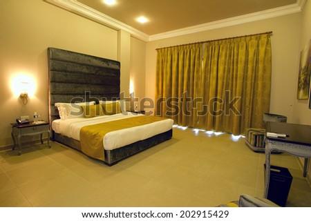 5 stars luxury hotel room - stock photo