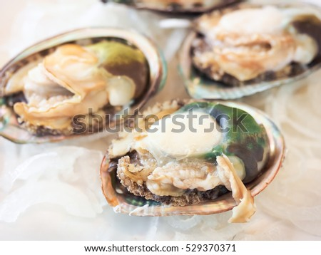 Steamed abalone