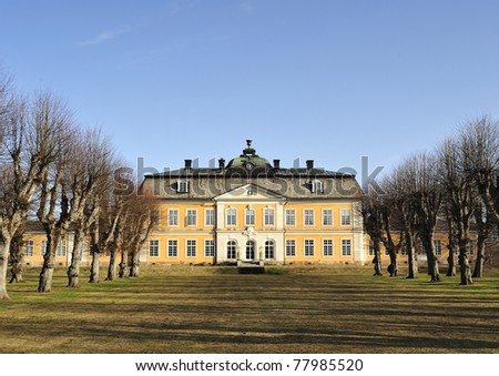 Österbybruks manor, the building was constructed in 1734. - stock photo
